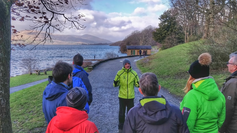 Ranger Rob leads the volunteers on Loch Lomondside